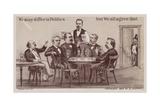 Politicians Enjoying Drinks around the Table