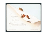 Five Little Robins in Snow  Christmas Card