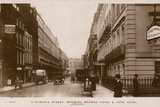 Albemarle Street  Showing Browns Hotel and York Hotel  London