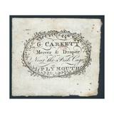 G Carkett  Mercer and Draper  Trade Card