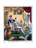 Progress of the Toilet - the Wig  Early C19th
