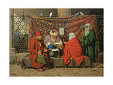 A Turkish Notary Drawing Up a Marriage Contract in Front of the Kilic Ali Pasha Mosque  Tophane …