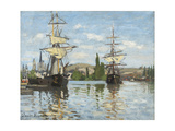 Ships Riding on the Seine at Rouen  1872- 73