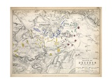 Map of the Battle of Dresden  Published by William Blackwood and Sons  Edinburgh and London  1848