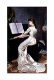 Song Without Words  Piano Player  1880