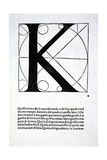 K  Illustration from 'Divina Proportione' by Luca Pacioli (C1445-1517)  Originally Pub Venice …