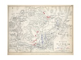 Map of the Battle of Vitoria  Published by William Blackwood and Sons  Edinburgh and London  1848