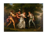 Valentine  Proteus  Sylvia and Giulia in the Forest - Scene from 'The Two Gentlemen of Verona'…