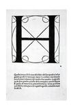 H, Illustration from 'Divina Proportione' by Luca Pacioli (C.1445-1517), Originally Pub. Venice,… Giclée par Leonardo Da Vinci