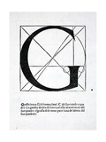 G  Illustration from 'Divina Proportione' by Luca Pacioli (C1445-1517)  Originally Pub Venice …