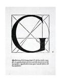 G  Illustration from 'Divina Proportione' by Luca Pacioli (C1445-1517)  Originally Pub Venice …