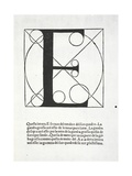 E  Illustration from 'Divina Proportione' by Luca Pacioli (C1445-1517)  Originally Pub Venice …