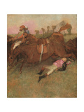 Scene from the Steeplechase: the Fallen Jockey  1866