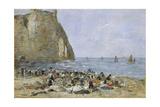 Washerwomen on the Beach of Etretat  1894