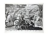 Illustration from 'Ventationes  Ferrarum  Avium  Piscium'  Pub Johannes Galle  Antwerp  Early…