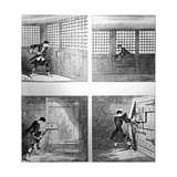 The Escape No 2  from 'Jack Sheppard' by W H Ainsworth  Published 1839