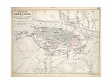 Map of the Siege of Saragossa  Published by William Blackwood and Sons  Edinburgh and London  1848