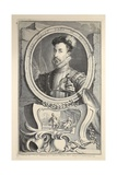 Portrait of Robert Dudley  Earl of Leicester  Illustration from 'Heads of Illustrious Persons of…