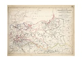 Map of Prussia and Poland  Published by William Blackwood and Sons  Edinburgh and London  1848