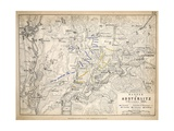 Map of the Battle of Austerlitz  Published by William Blackwood and Sons  Edinburgh and London …