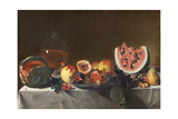 Still Life with Watermelons and Carafe of White Wine