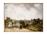 View of the City of London from Sir Richard Steele's Cottage  Hampstead  C1832