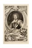Portrait of Edward Sackville  Illustration from 'Heads of Illustrious Persons of Great Britain' …