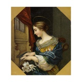 Saint Cecilia Playing the Organ