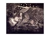 Sphinx  Frontispiece to 'Hieroglyphes Et Poemes' by Rey De Gourment  1894
