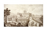 View of the Villa Di Montughi  from 'Views of Tuscany' by Giuseppe Bouchard  Published 1744-57