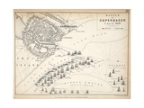 Map of the Battle of Copenhagen  Published by William Blackwood and Sons  Edinburgh and London …