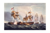 Capture of La Minerve  Print Made by Thomas Sutherland  from 'The Naval Achievements of Great…