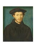 Portrait of a Man  C 1536- 40 (Oil on Walnut)