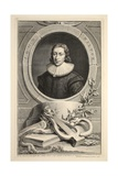 Portrait of John Milton  Illustration from 'Heads of Illustrious Persons of Great Britain'  Pub…