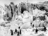 Climbers on the Morteratsch Glacier  Late C19th