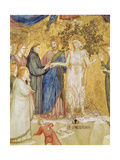 Christ Blesses the Mystic Marriage of St Francis with Poverty  1330