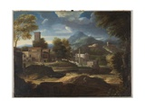 Landscape with Figures and Architecture  C1680