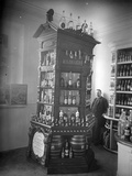 Shop Display of Wine and Liqueurs  C1893
