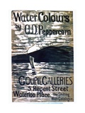 A Poster Announcing AD Pepercorn's Watercolour Show at Goupil Galleries