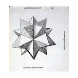 Icosaedron Elevatum Solidum  Illustration from 'Divina Proportione' by Luca Pacioli…