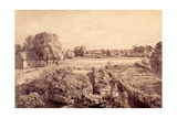 East Bergholt - View over Kitchen Garden of Golding Constable's House
