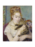 Woman with a Cat  C1875
