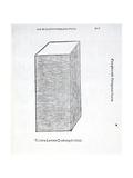 Columna Laterata Quadrangula Solida  Illustration from 'Divina Proportione' by Luca Pacioli…
