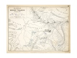 Map of the Battle of Mount Thabor  Published by William Blackwood and Sons  Edinburgh and London …