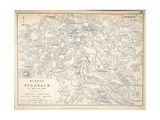 Map of the Battle of Stockach  Published by William Blackwood and Sons  Edinburgh and London  1848