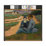 Woman and Child in Landscape  C1892