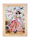 Enough to Make an Angel Swear  Or  Real Birds Plucking the Sham  C1830s