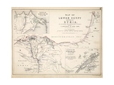Map of Lower Egypt and Part of Syria  Published by William Blackwood and Sons  Edinburgh and…