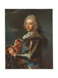 Portrait of the Duc De Broglie  in Sash of the Order of Sainte Esprit  with Baton of a Marshal of…