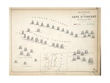 Map of the Battle of Cape St Vincent  Published by William Blackwood and Sons  Edinburgh and…